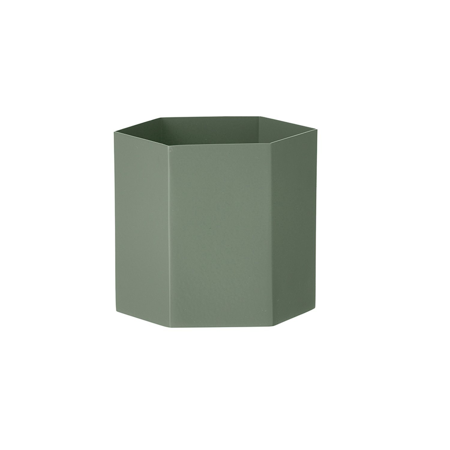 Hexagon potte L, dusty green