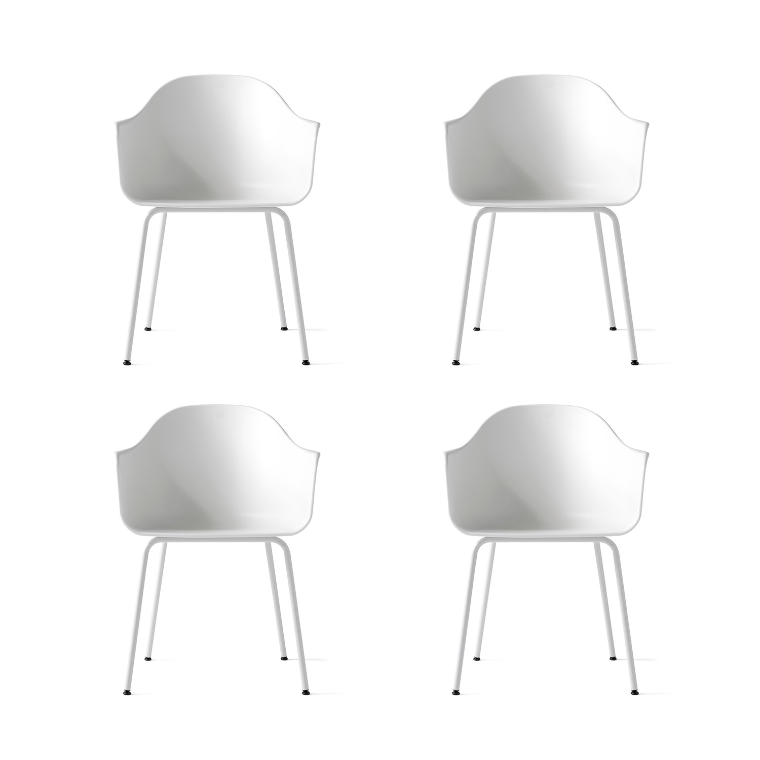 Harbour Chair 4-pack, lysegrå/lysegrå
