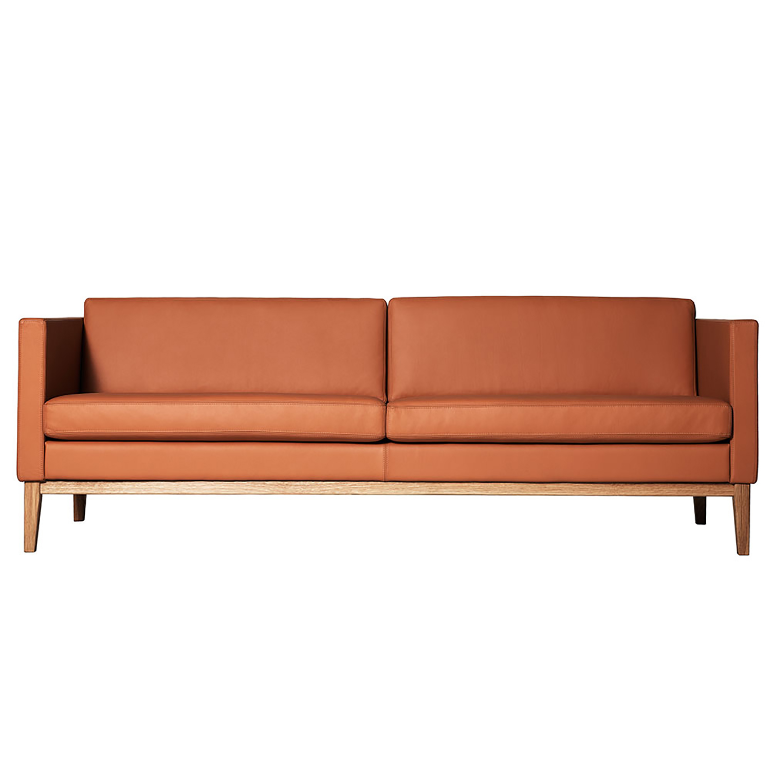 Madison sofa uten knapper, brun
