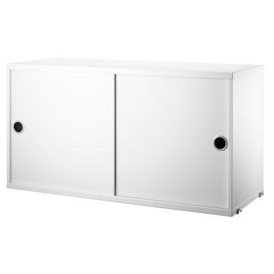 String skap med skyvedør, hvit String - Kjøp møbler online på ...