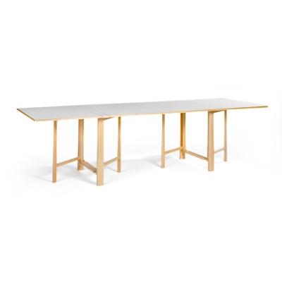 Sammenleggbart bord, hvit laminat
