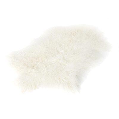 Longhair saueskinn 70x110, hvit