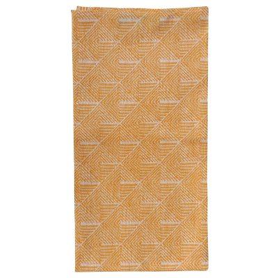 Stubbe håndkle 50x70, orange/hvit