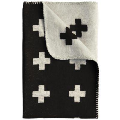 Cross pledd 150x240 cm, svart