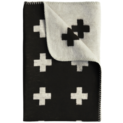 Cross pledd 75x125 cm, svart