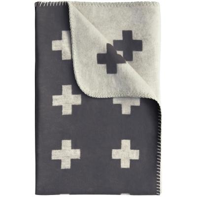 Cross pledd 75x125 cm, grå