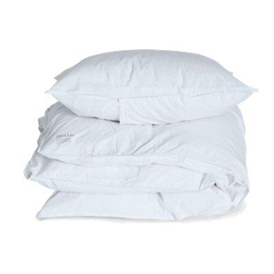 Aiayu sengesett enkel, hvit