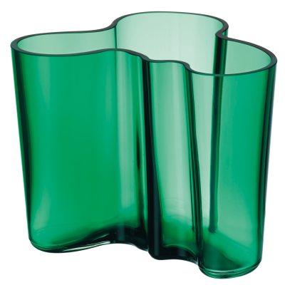 Aalto vase 120 mm, smaragdgrønn