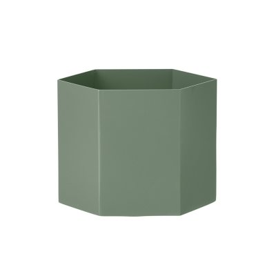 Hexagon potte XL, dusty green