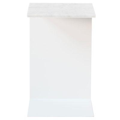 Plate nattbord, marmor/hvit – stÃ¥lverket – kjøp møbler online pÃ¥ ...