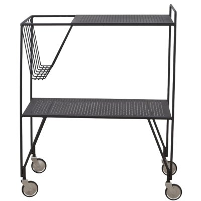 Use sidebord med hjul, svart