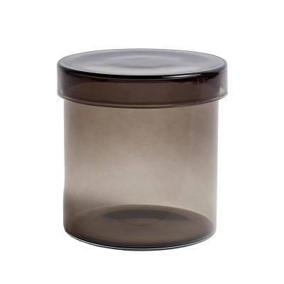 Bilde av Container glasskrukke L, grå