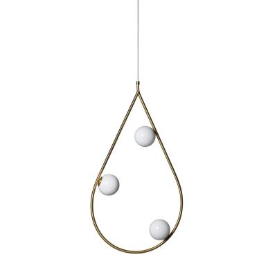 Bilde av Pearls 3 taklampe, messing
