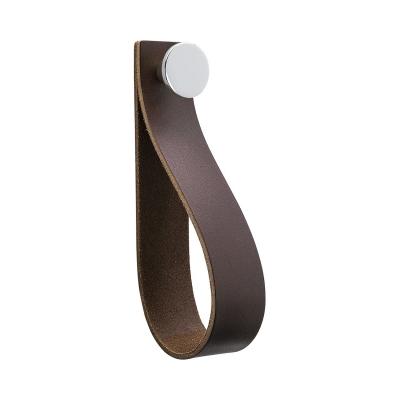 Bilde av Loop Strap håndtak L, brun/krom