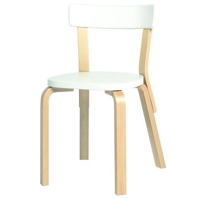 Bilde av 69 stol sete+ryggstøtte, hvitlakkert