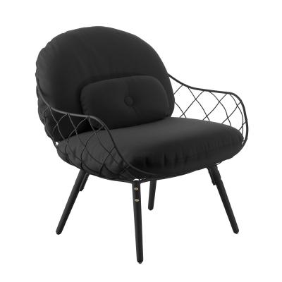 Bilde av Piña low chair, black/black/black