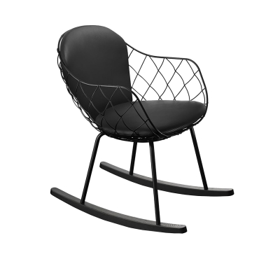 Bilde av Piña rocking chair, black/black/black
