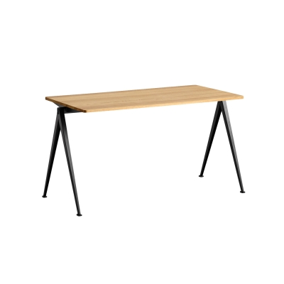 Bilde av Pyramid desk 01 140x65, black frame/clear