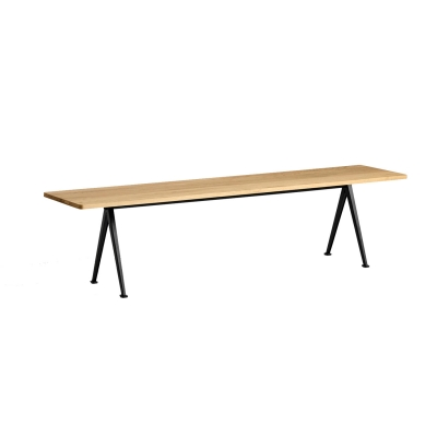 Bilde av Pyramid bench 12 190x40, black frame/clear