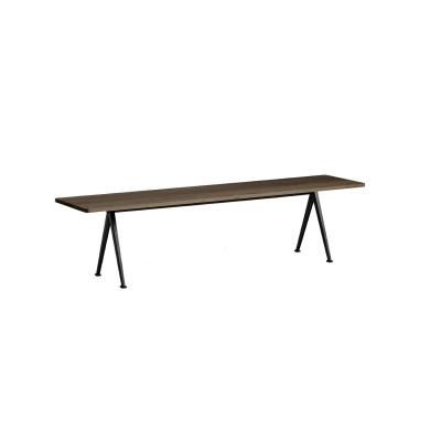 Bilde av Pyramid bench 12 190x40, black frame/smoked