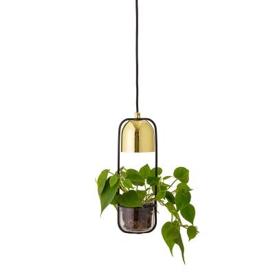 Bilde av Pot-Lamp pendel, gull/glass