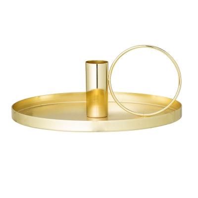 Bilde av Hoop lysestake, gull
