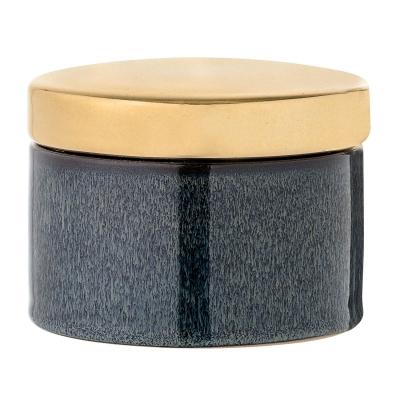Bilde av Golden Stone boks med lokk, blå/gull