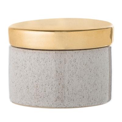 Bilde av Golden Stone boks med lokk, natur/gull