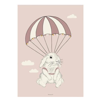 Bilde av Airborne Bunny poster 50x70, rosa