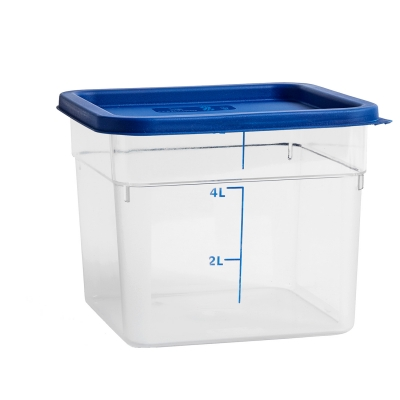 Bilde av Coloured lid oppbevaringsboks L, blå