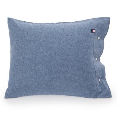 Bilde av Herringbone Flannel putevar 50x60, blå