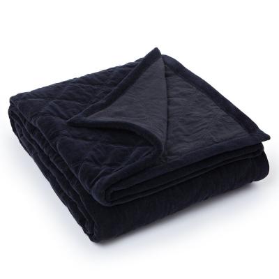Bilde av Quilt Velvet sengeteppe 260x240, svart