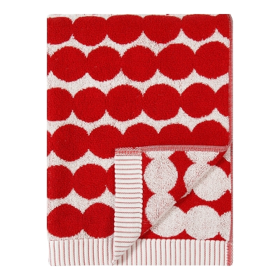 Bilde av Räsymatto håndkle 50x100, hvit/rød