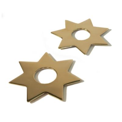 Bilde av Constella innsats stjerner 5-pakning, messing