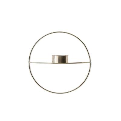 Bilde av Pov circle vegglysestake telys S, sølv