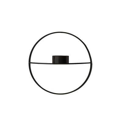Bilde av Pov circle vegglysestake telys S, svart