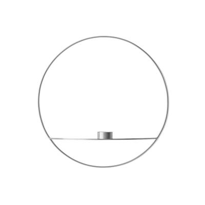 Bilde av Pov circle vegglysestake telys L, sølv
