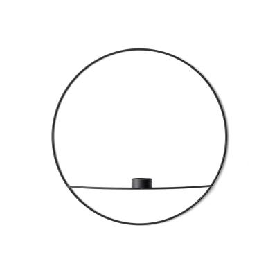 Bilde av Pov circle vegglysestake telys L, svart