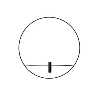 Bilde av Pov circle vägghängd vase L, svart