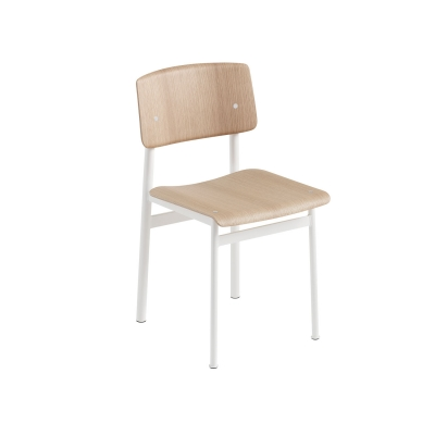 Bilde av Loft chair, hvit/eik