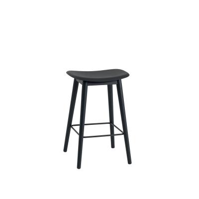 Bilde av Fiber Wood bar stool, svart