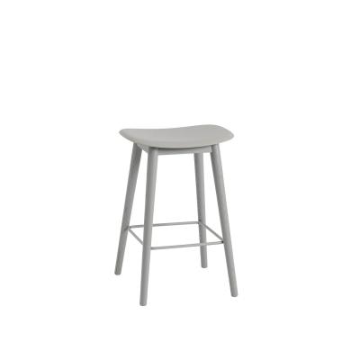 Bilde av Fiber Wood bar stool, grå