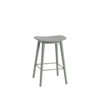 Bilde av Fiber Wood bar stool, dusty green