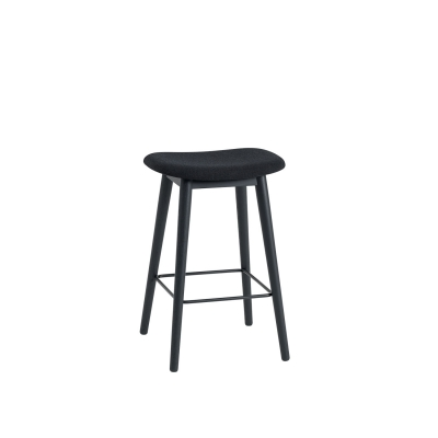 Bilde av Fiber Wood bar stool, svart/remix183