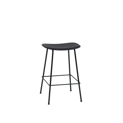 Bilde av Fiber Tube bar stool, svart