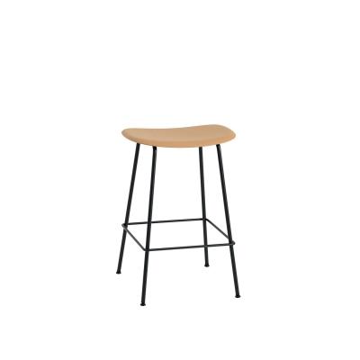 Bilde av Fiber Tube bar stool, ochre/svart