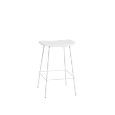 Bilde av Fiber Tube bar stool, naturell hvit/hvit