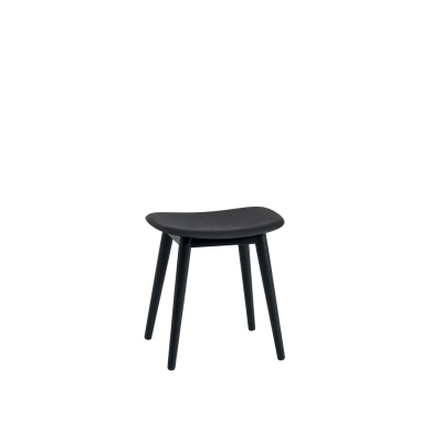 Bilde av Fiber Wood stool base, svart/svart