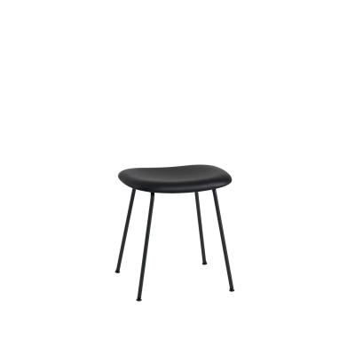Bilde av Fiber Tube stool base, svart lær/svart