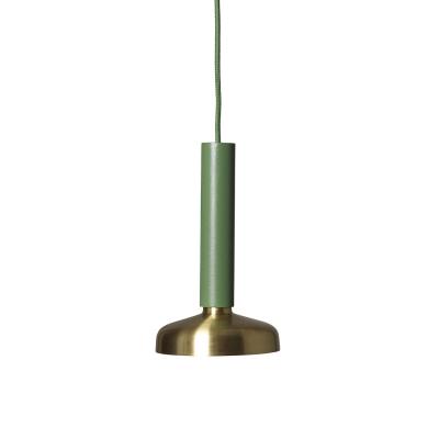 Bilde av Blend taklampe, grønn/messing